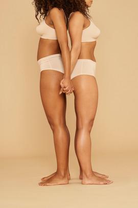 Women in Natural Color Underwear