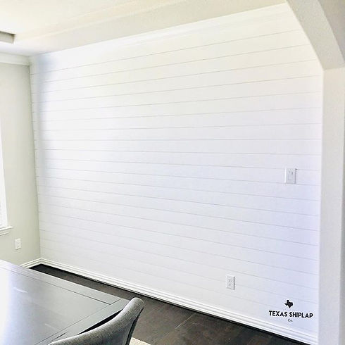 The crisp clean lines of the shiplap on
