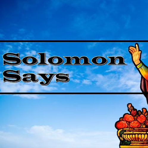 (Notes & PPT) Solomon Says Pastor's Pack (2019)