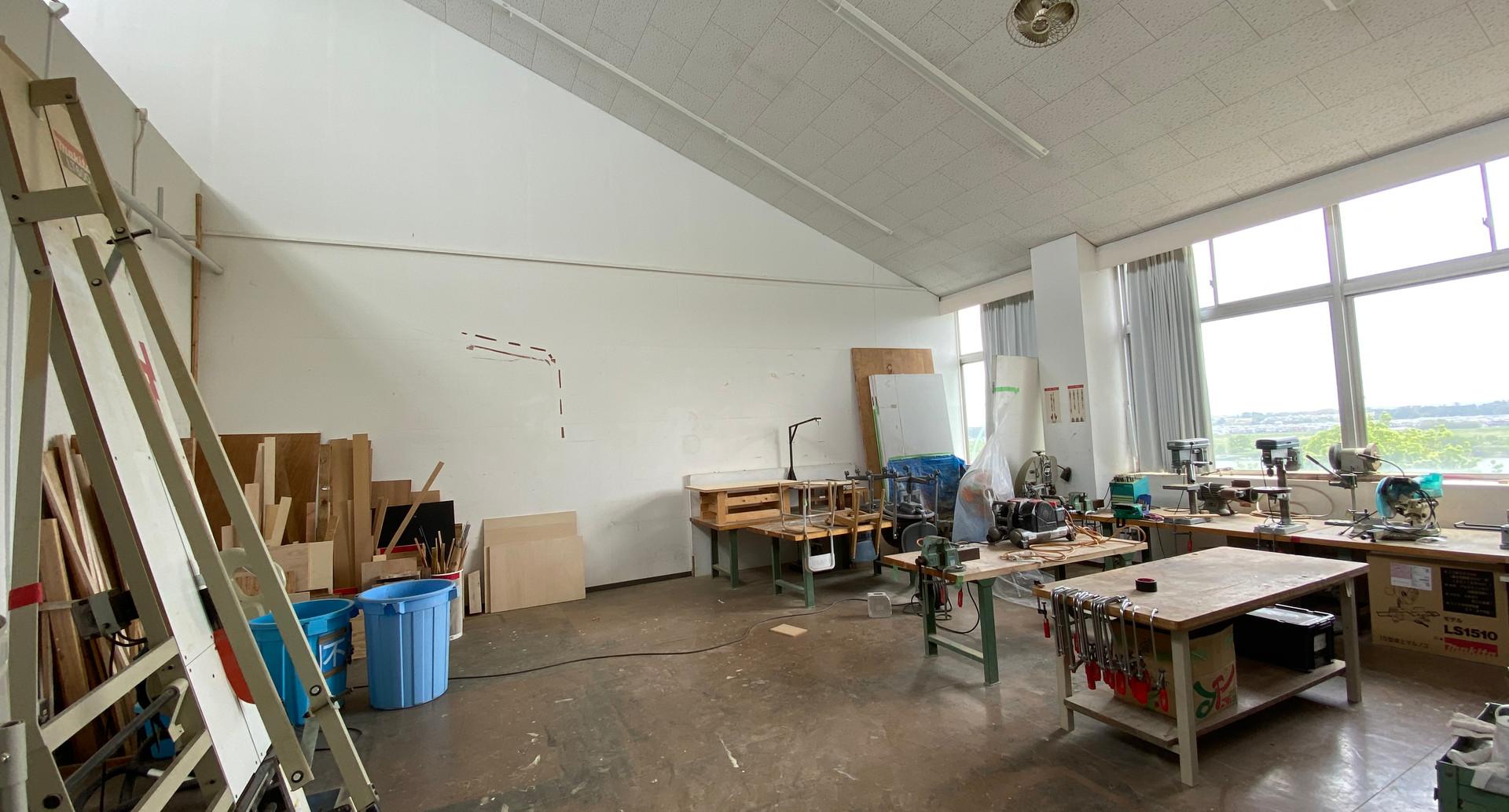 取手デザイン科第9研究室作業スペース