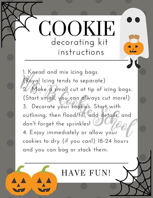 Halloween's DIY kit instructions