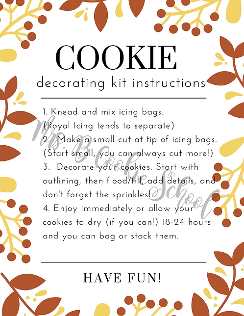 Fall's DIY kit instructions