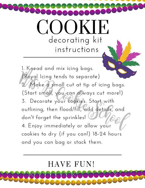 Mardi Gras's DIY kit instructions