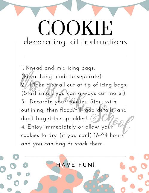Easter's DIY kit instructions