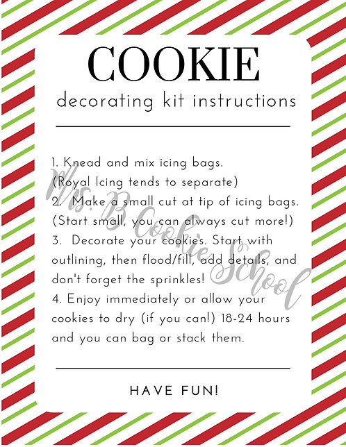 Christmas' DIY kit instructions