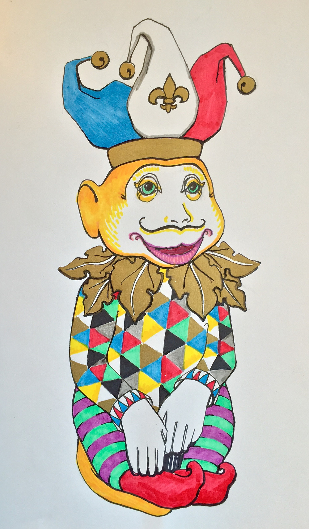 Concept drawing for the 2016 Year of the Monkey Design: The Jovial Jester