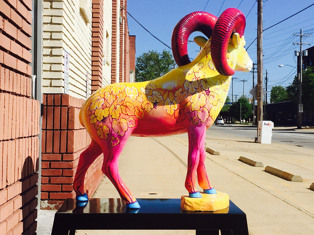 Year of the Sheep 2015 permenant instillation downtown Cleveland on east 40th between Payne Ave and Superior Ave