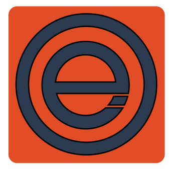 Overedge Orange and Blue Square