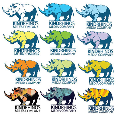 KINDRHINOS Media Co Logo Color Options