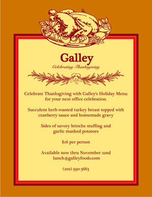 Galley Menu