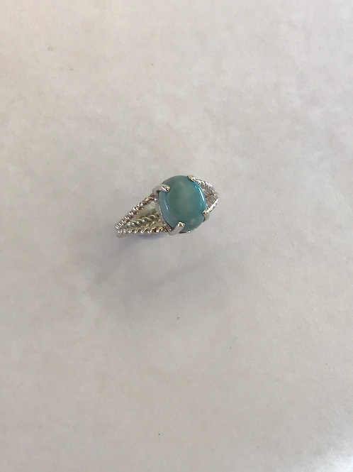 Larimar twisty band ring