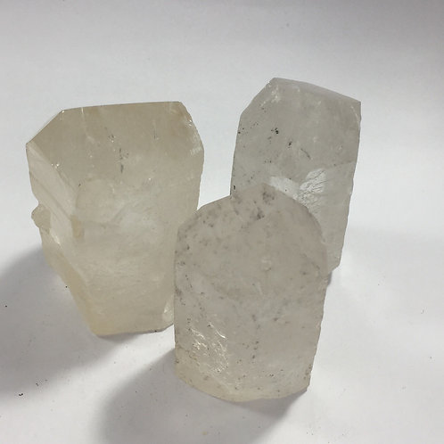 Clear Quartz unpolished tower