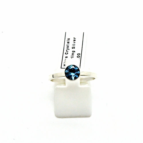 Facetted London blue topaz stack ring