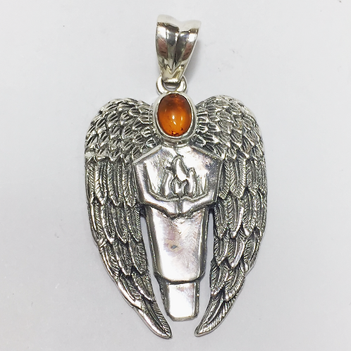 Archangel Uriel holding the flame with Amber