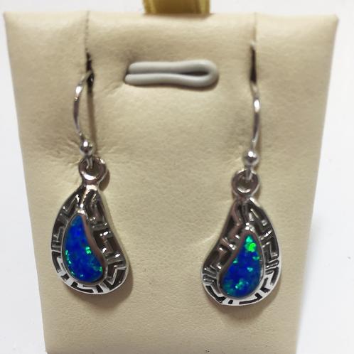 Opal synthetic earrings