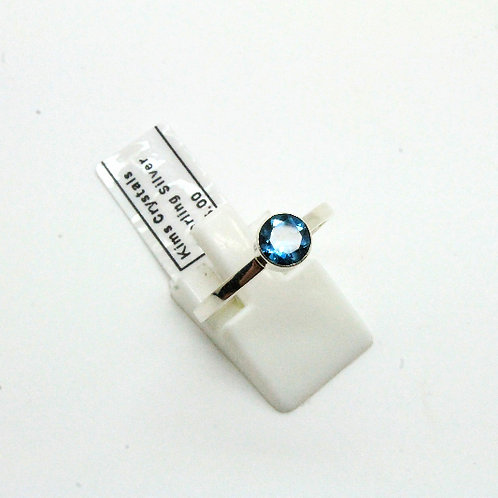 London blue Topaz,  simple stack ring