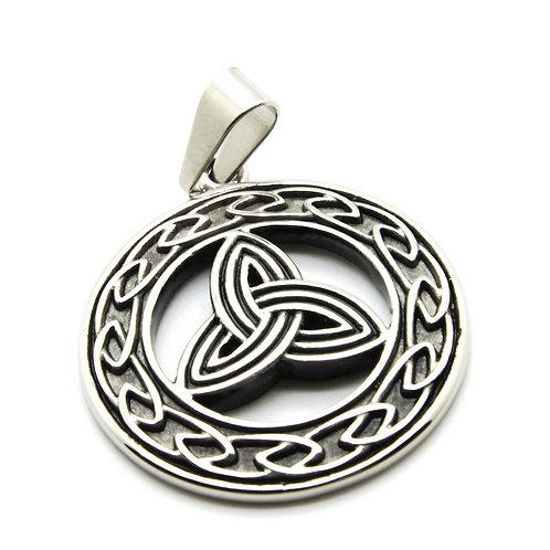stainless steel Celtic Trinity pendant