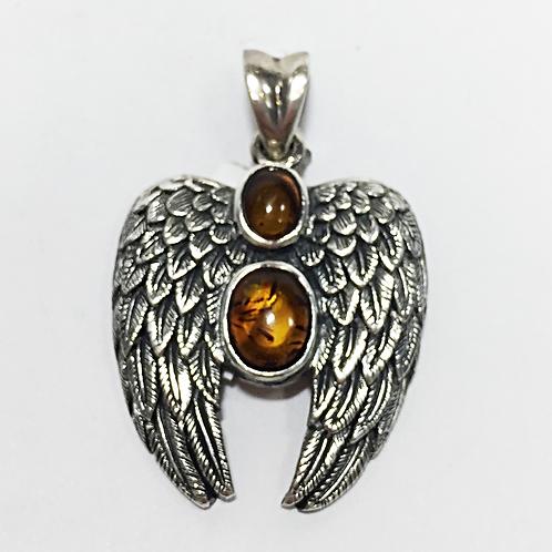 Archangel Uriel double stone pendant