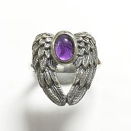 Amethyst Archangel Micheal ring