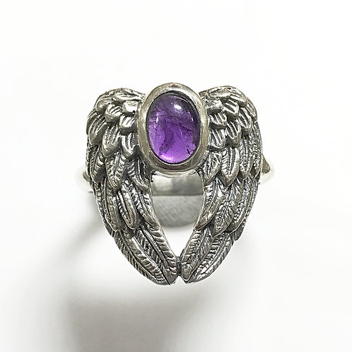 Amethyst Archangel Micheal ring