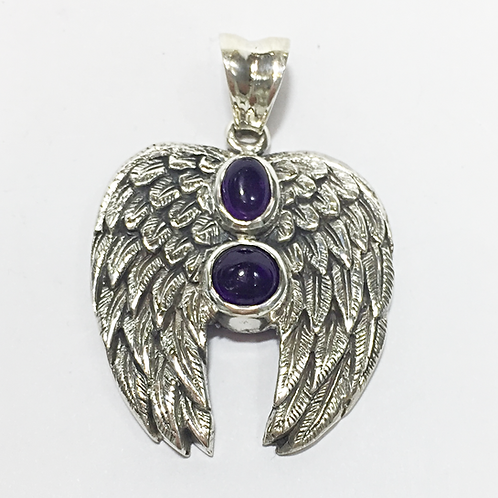 Archangel Micheal double stone pendant