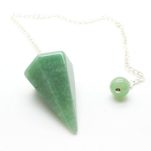 Green Aventurine faceted pendulum