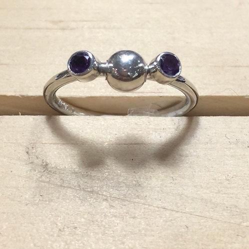 Amethyst fidget spinner ring