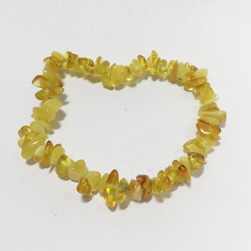 Amber single chip bracelet -