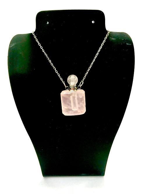 Rose Quartz Essential Oil Crystal Bottle