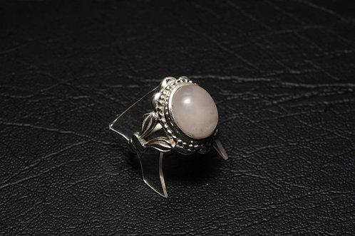 Rose Quartz Ornate ring