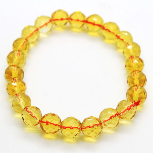 Faceted Citrine elasticated bracelet