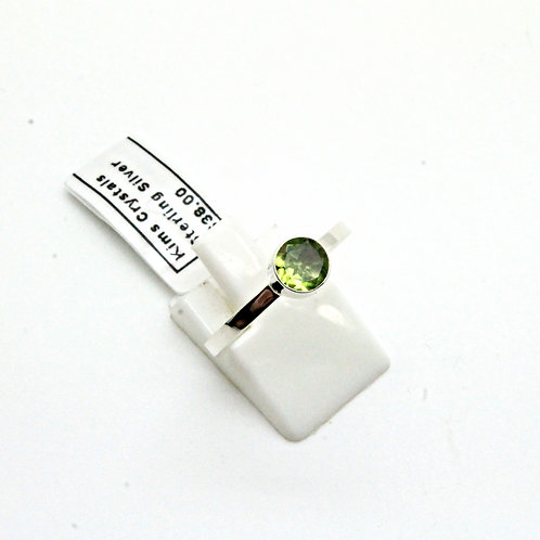 Facetted Peridot stack ring