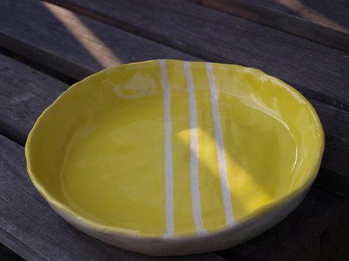 Handgetpöferte-Keramik Obstschale