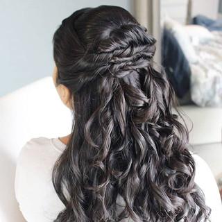 Loving one Nadira's bridesmaid hairstyle