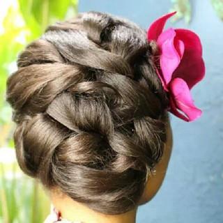 Bridesmaid hairstyle by me #bridesmaids