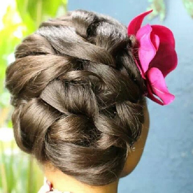 Bridesmaid hairstyle by me #bridesmaids