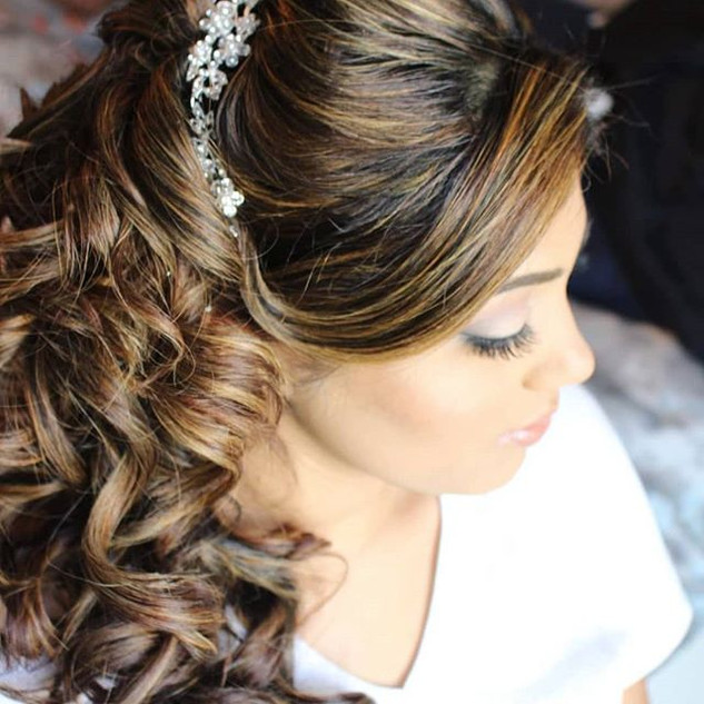 Bridal hair and makeup for this beauty _