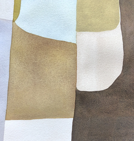 Divided by Ochre, Light Blue and Umber