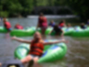 Girl Scouts tubing on Antietam Creek