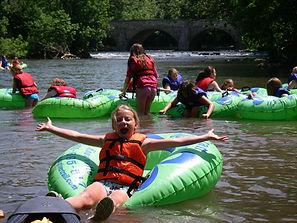 Girl Scouts tubing on Antietam Creek