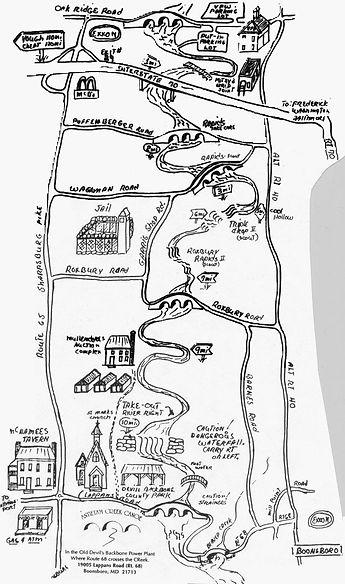 Funkstown to Devils Backbone map Antietam Creek