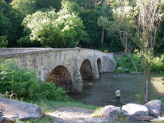 Stonewall Jackson marched across this bridge in 1862.....that was some busy day !