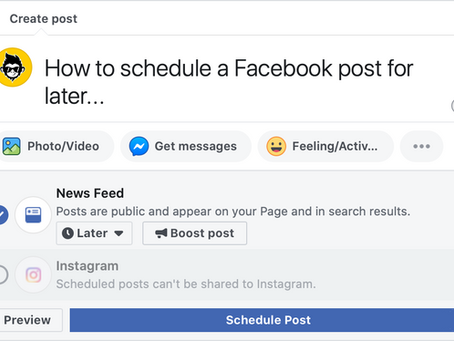How To Schedule A Facebook Post To Auto-Publish Later
