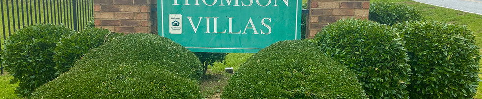 Thomson Villas Monument Sign