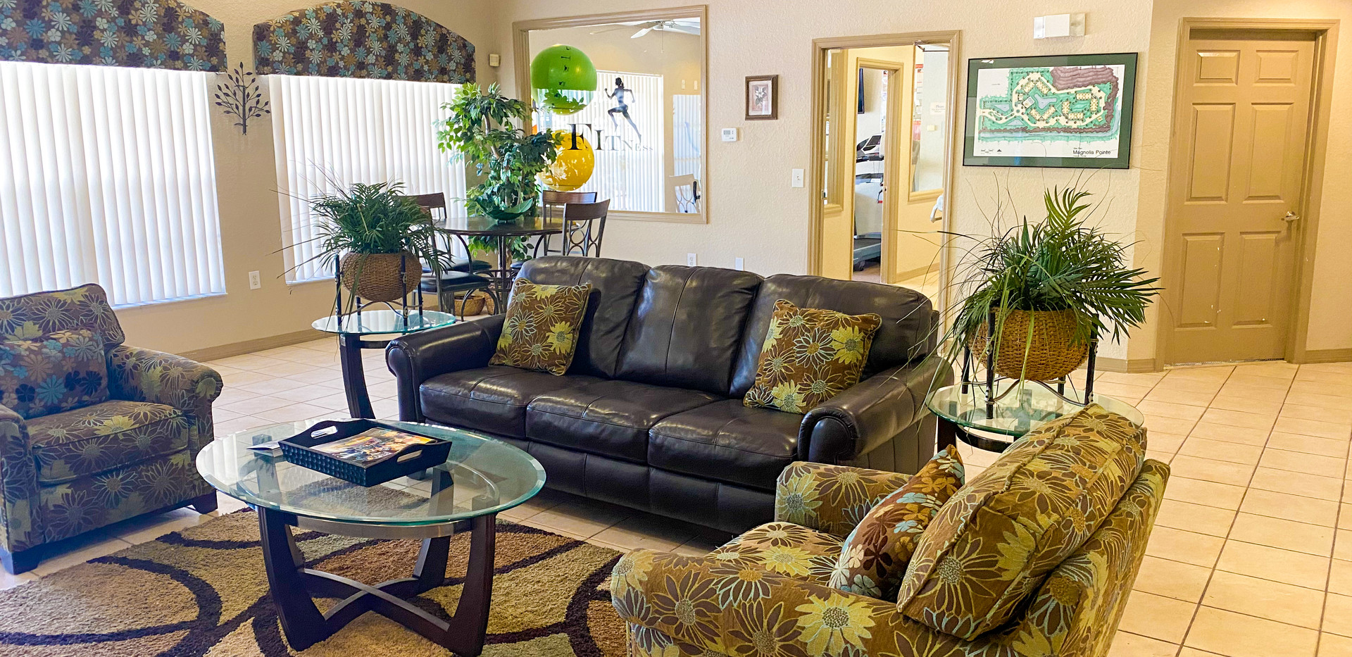 Clubhouse couches & coffee table