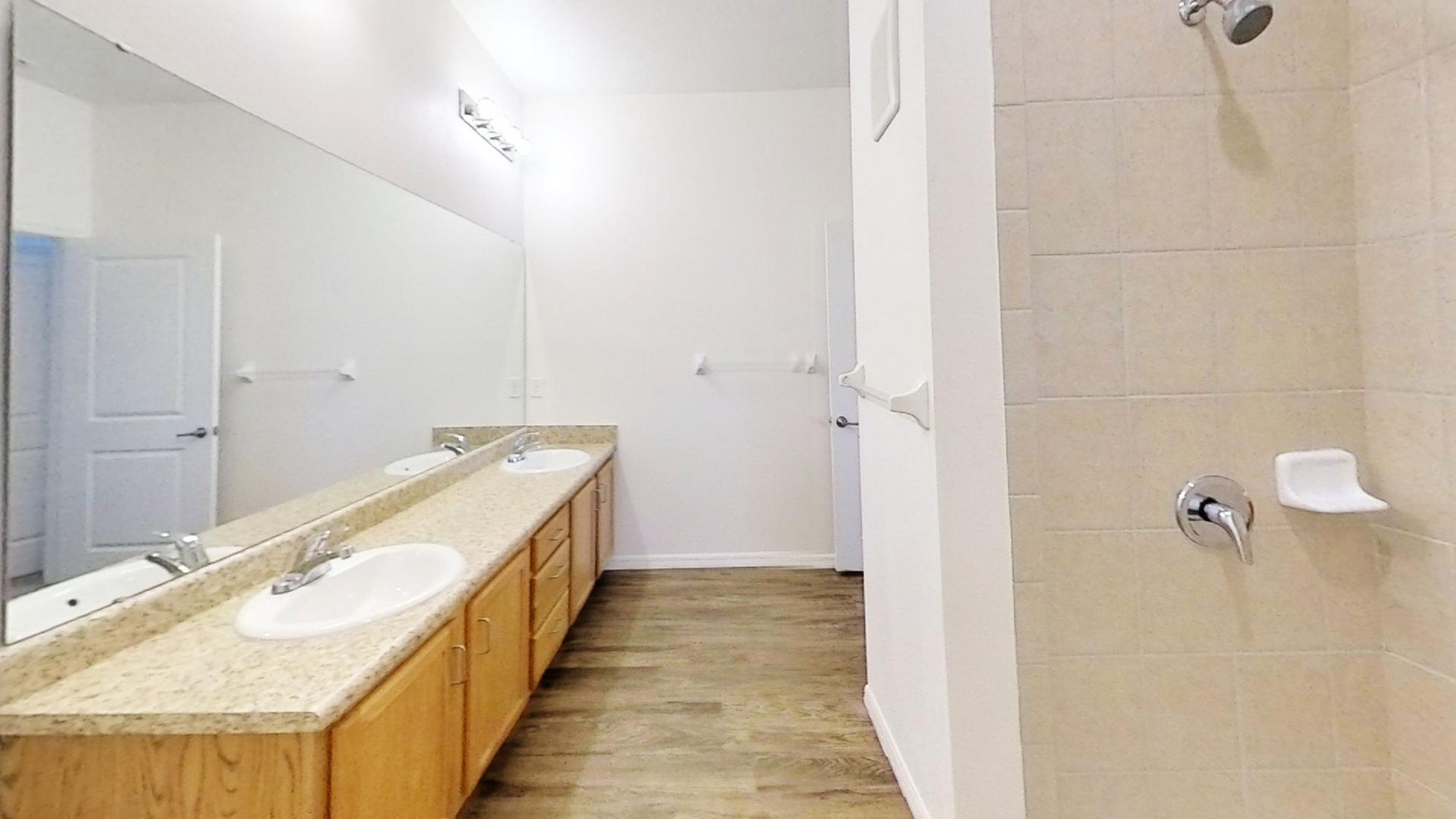 Photo of bathroom and shower