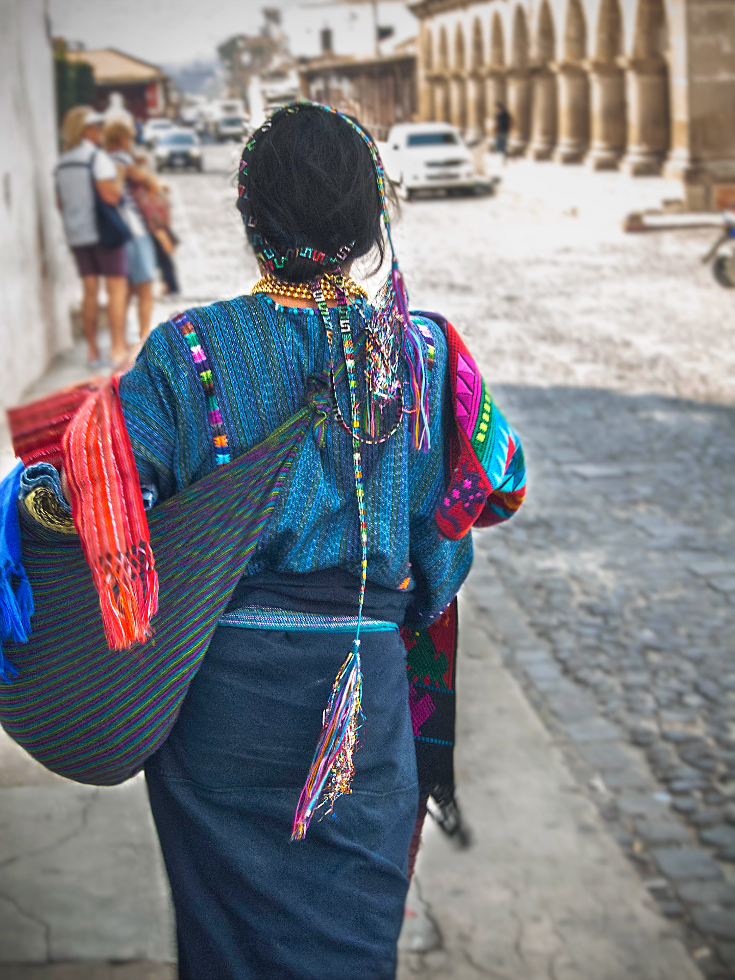 Woman walking in Guatemala