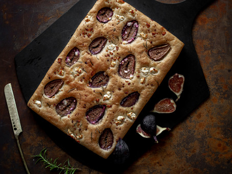 Fig and Goat Cheese Focaccia