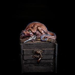 Magic Dragon box sculpture