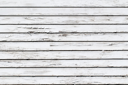 Old White Planks With Ling Paint